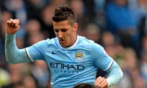 Stevan Jovetic was on target in Manchester City's 4-1 win over Southampton.