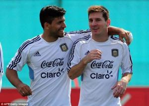 Sergio Agüero and Lionel Messi